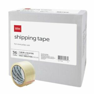 Office Depot Shipping Tape Multipurpose 1 89 X 54 6 Yd Clear 36 pack