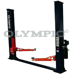 2 Post Deluxe Commercial Floor Plate 8000lb Olympic Car Lift Hoist Now 20 Off