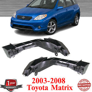 Front Bumper Side Brackets Left And Right Side For 2003 2008 Toyota Matrix