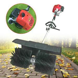 1700w 52cc Gas Power Sweeper Hand Held Broom Cleaning Driveway Turf Grass Clean