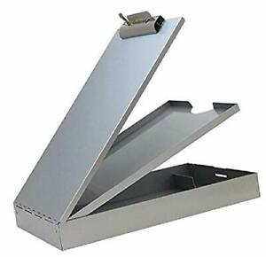 Aluminum Clipboard With Storage Recycled Metal Form Holder Binder Paper Office