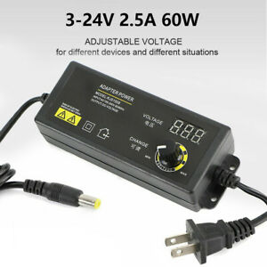 Power Supplies Adjustable Voltage W Lcd Display 3 24v Ac dc Switch Adapter Us