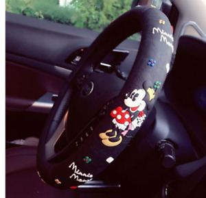 Mickey Minnie Mouse Car Steering Wheel Grip Cover Silicone Non Slip Universal