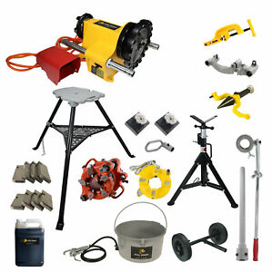 Reconditioned Ridgid 141 Geared Threader With Steel Dragon Tools 300 Stand
