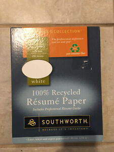 Southworth 100 Recycled Resume Paper 24lb Resources Collection 100 Sheets