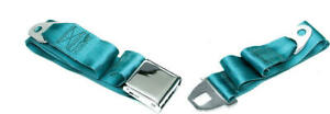 Eckler S Chevelle Seat Belt Front Turquoise 1964 1966 Early 50 205122 1