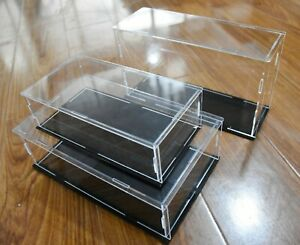 Acrylic Large Clear Plastic Car Display Case Accessories Box Organizer Dust Proo