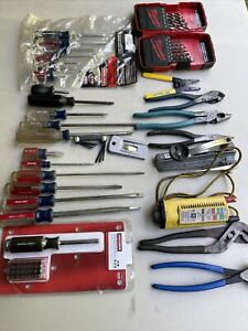 Lot Of 30 Electricians Tool Set New Used