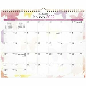 At a glance Watercolors Monthly Wall Calendar 15 X 12 Jan dec Pm91 707 22