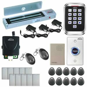 Visionis Access Control Kit With Maglock Vis 3004 Keypad Doorbell Button