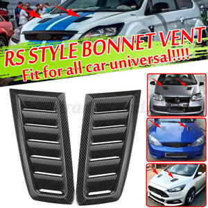 Carbon Front Bonnet Hood Vent Louvers Scoop Cover Air Intake For Ford Mustang