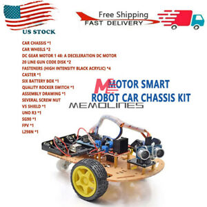2 Wd Smart Robot Car Chassis Speed Encoder For Arduino Avoidance Tracking Motor