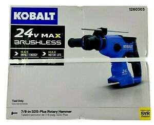 Kobalt 24 volt 7 8 in Sds plus Cordless Rotary Hammer Tool Only notes
