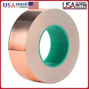 Copper Foil Tape 1inchx66ft One sided Conductive Adhesive For Emi Shield