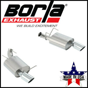 Borla S Type Axle Back Exhaust System Fits 2013 2014 Ford Mustang 5 0l