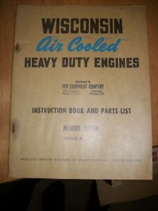 Wisconsin Air cooled Heavy Duty Engines Instruction Book Parts List Mod Vg4d