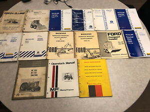 Lot Of Implement Tractor Shop Service Operator Manuals Ford Massey Ferguson