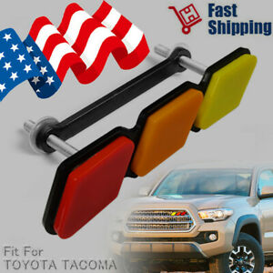 Tri Color 3 Grille Badge Emblem For 2018 2019 Toyota Tacoma Trd 4runner Tundra Fits 2009 Toyota Tacoma