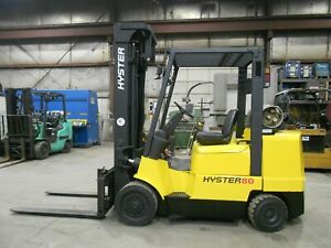 2003 Hyster S80xm 8 000 8000 Cushion Tired Forklift 3 Stage Side Shift
