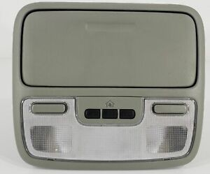 04 08 Honda Pilot Overhead Console With Map Lights And Homelink Gray
