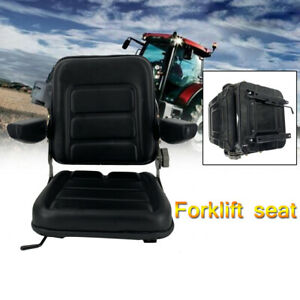 Lawn Garden Slidable Tractor Seat Forklift Seat Riding Mower Seat Pvc W Armrest