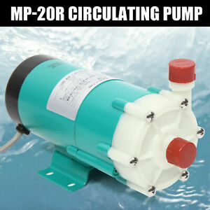 110v Industrial Mp 20r Chemical Magnetic Drive Circulation Water Pump 27l min Us