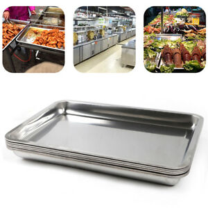 Silver 2 Full Size Deep Solid Stainless Steel Hotel Steam Table Food Pan 6 Pack