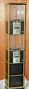 Double Twin Tier Northern Beaver Black Gold Gumball Vending Machine