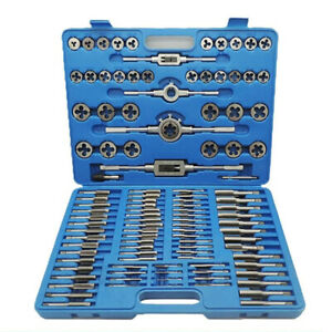 110pcs Tap And Die Wrenches Combination Set Tungsten Steel Titanium Metric Tools