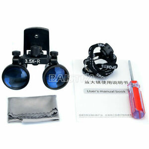 Dental 3 5x Surgical Loupes Binocular Glass Medical Magnifier Clip Type 280 380m