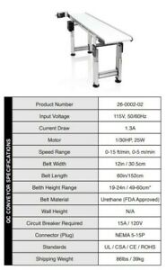 Fda Approved Twister Trimmer t2 t4 Inspection Conveyor Belt System used