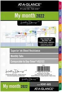 2022 Monthly Planner Refill By At a glance 52132 Day timer 5 1 2 X 8 1 2