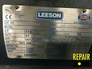 10 Hp 1200 Rpm 256t Fr a Leeson 3 Phase Motor New liquidation