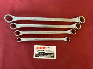 4pc Vintage Craftsman V Series 12pt Double Box End Wrench Set Sae Usa Made