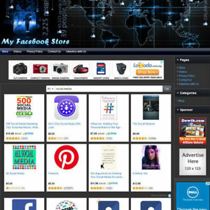 Book Store Social Media Networking Online Affiliate Business Website For Sale