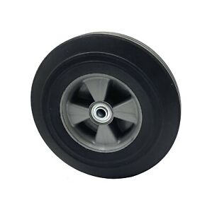 Rocky Mountain Goods Solid Rubber Hand Truck Wheel 10 5 8 Axle Size Flat