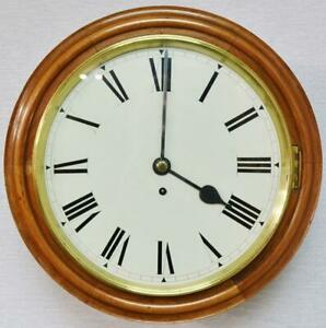 Antique English 8 Day Single Fusee Timepiece Walnut 15 5 Dial Wall Clock