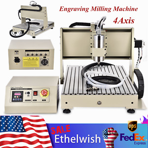 4 Axis 6040cnc Router Engraver Milling Machine Engraving Drilling Usb 1500w Us