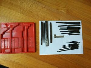 Vintage Snap On Punch Amp Chisel Set Plastic Tray Amp Gage Snap On Tools 20 Pieces