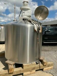 Approx 500 Gallon Stainless Steel Jacketed Agitated Tank