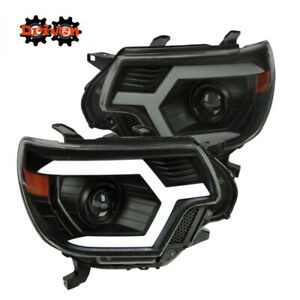 12 15 Tacoma Headlights Black Projector Led Sequential Signal Switchback Drl