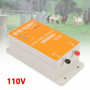 Solar Electric Fence Controller Ranch Animal Orchards Fencing Charger 110v New