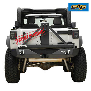 Eag Rear Bumper With Tire Carrier 2 Receiver Hitch Fit 07 18 Jeep Wrangler Jk