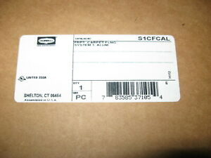 New In Box Hubbell System One Floor Box Cover Flange Aluminum S1cfcal