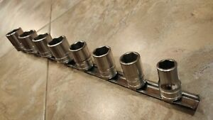Snapon Sae Shallow 12 Drive 6 Point Socket Set