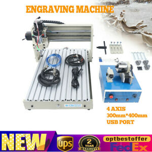 4 Axis 3040 Cnc Router Usb Port 400w Engraver Engraving Milling Drilling Machine