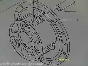Clark Michigan Carrier For 3 Planetary Gears Pinions 118772 175b Loader