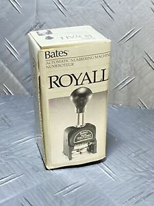 Bates Automatic Numbering Machine Royall Rnm 6 7 With Extra Ink Refill
