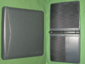 8 5x11 1 0 Blue Leather Duratec Planner Open Binder Franklin Covey Monarch