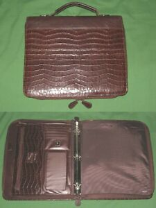 8 5x11 1 0 Brown Reptile Faux Leather Buxton Planner Monarch Franklin Covey